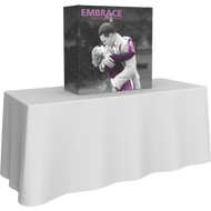 EMBRACE 2.5FT TABLETOP PUSH-FIT TENSION FABRIC DISPLAY 1 x 1