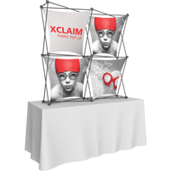 XCLAIM 5FT TABLETOP FABRIC POPUP DISPLAY KIT 04 - 2 x 2