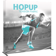 HOPUP 8FT STRAIGHT FULL HEIGHT TENSION FABRIC DISPLAY WITH ENDCAPS