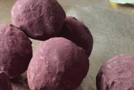 Fresh wild mint chocolate truffles
