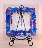 Decorate Glass Plates, Iris 3 pc Set