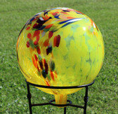 Garden Gazing Ball Circus Yellow