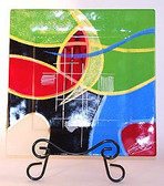 Decorate Glass Plates, Mardi Gras 3 pc Set