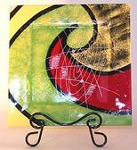 Decorate Glass Plates, Watermelon Wave 3 pc Set