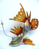 Galvanized 3D Angler Fish