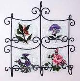 Floral Glass Plates, Set 4