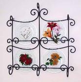 Floral Glass Plates, Set 1 Seasons