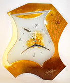 Sculpture Wheat Glass Clock