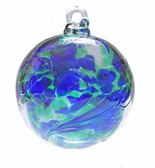 Cobalt Blue / Moss Green Twist Iridized  2.5 Inch