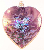 "Abalone Heart,  ""Lavender Lilly"""
