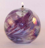 "Kugel Oil Lamp ""Lavender Lilly"""