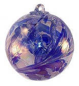 "Witch Ball ""Delft Blue""  Iridized"