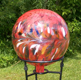 Gazing Ball Circus Red