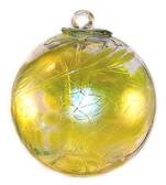 Witch Ball Iridescent Lemon Yellow