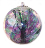 Witch Ball Purple, Green & Blue