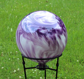 "Gazing Ball ""Lavender Lilly Over Opal"""
