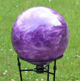 "Gazing Ball ""Violet Blue Over Opal"""