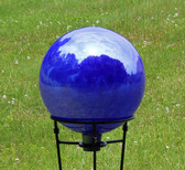 Over Opal Cobalt Blue Gazing Ball
