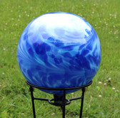 Montana Blue / Water Blue Over Opal Gazing Ball