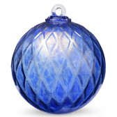 Diamond Optic Friendship Ball, Sari Blue Iridized (6 inch)