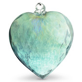Diamond Optic Extra Large Heart, Emerald Green Iridized