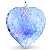 Diamond Optic Extra Large Heart, Sari Blue Iridized (6 inch)