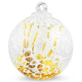 """Veiled Witch Ball """"Gold Topaz"""""""