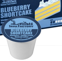 Java Factory Blueberry Shortcake Single Cup. Limited Edition Blueberry and vanilla cream flavored coffee. Compatible with all single serve brewers, including Keurig® not Keurig® 2.0.