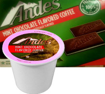 Andes Mint Chocolate Coffee Single Cup. Two classic after-dinner treats have come together in one delicious mint-chocolaty cup. When the fresh, cool flavor of Andes Mints combines with the rich bold taste of coffee, your taste buds will feel invigorated, no matter what time of day. Compatible with all single serve brewers, including Keurig® and Keurig® 2.0.