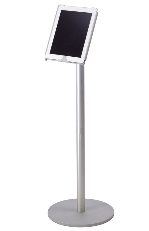 Tablet floor stand monitors in motion floor stand with ipad holder tyukafo