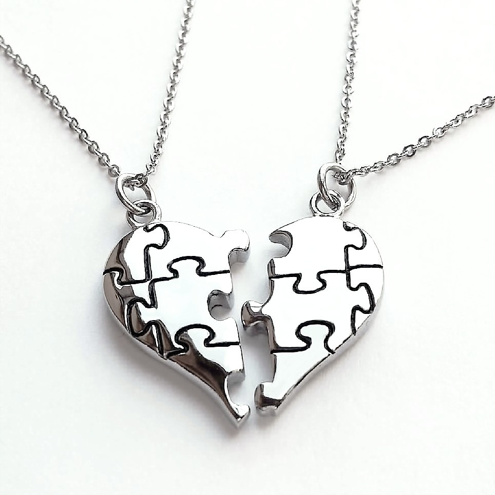 love necklace i you evermarker steel couple have new lover products heart romantic mutual affinity necklaces puzzle titanium