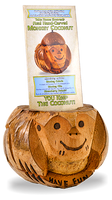 Monkey Coconut Table Tents