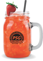16oz Glass Mason Jar w/Handle