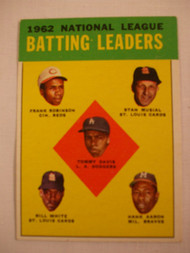 1963 Topps 1962 #1 NL Batting Leaders VG