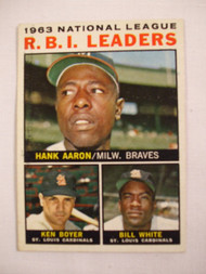 1964 Topps #11 1963 NL RBI Leaders EX