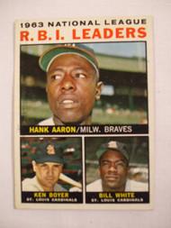 1964 Topps #11 1963 NL RBI Leaders EX