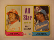 1974 Topps #332 All Star First Basemen Dick Allen & Hank Aaron EXMT