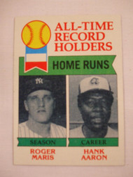1979 Topps #413 All-Time Record Holders Roger Maris & Hank Aaron NRMT