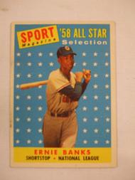 1958 Topps #482 Ernie Banks All Star VGEX
