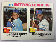 1977 Topps #1 1976 Batting Leaders George Brett & Bill Madlock VG