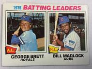 1977 Topps #1 1976 Batting Leaders George Brett & Bill Madlock VG