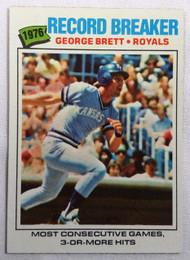 1977 Topps #231 1976 Record Breaker George Brett NRMT