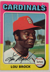 1975 Topps #540 Lou Brock EX