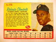 1962 Post 173b Roberto Clemente NRMT Pirates (Red line arount STATS)