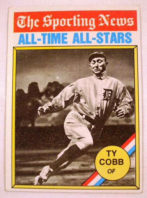 1976 topps 346 the sporting news all time all stars ty. Black Bedroom Furniture Sets. Home Design Ideas