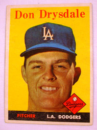1958 Topps #25 Don Drysdale EX