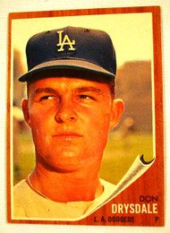 1962 Topps #340 Don Drysdale EXMT