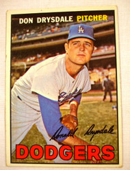 1967 Topps #55 Don Drysdale VGEX