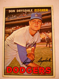 1967 Topps #55 Don Drysdale VG