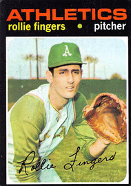 1971 Topps #384 Rollie Fingers EX